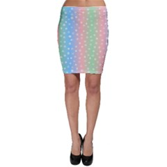 Christmas Happy Holidays Snowflakes Bodycon Skirt