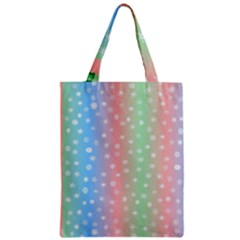Christmas Happy Holidays Snowflakes Zipper Classic Tote Bag