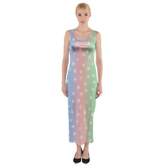 Christmas Happy Holidays Snowflakes Fitted Maxi Dress