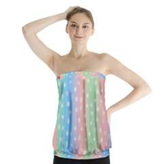 Christmas Happy Holidays Snowflakes Strapless Top
