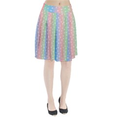 Christmas Happy Holidays Snowflakes Pleated Skirt