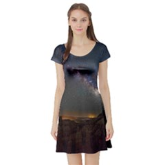 Fairyland Canyon Utah Park Short Sleeve Skater Dress