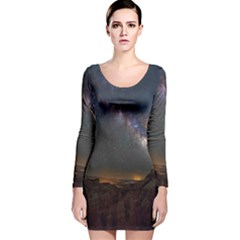Fairyland Canyon Utah Park Long Sleeve Velvet Bodycon Dress