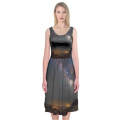 Fairyland Canyon Utah Park Midi Sleeveless Dress