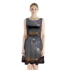 Fairyland Canyon Utah Park Sleeveless Chiffon Waist Tie Dress