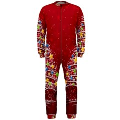 Colorful Christmas Tree Onepiece Jumpsuit (men)