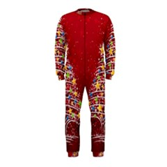 Colorful Christmas Tree OnePiece Jumpsuit (Kids)