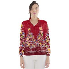 Colorful Christmas Tree Wind Breaker (Women)
