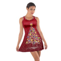 Colorful Christmas Tree Cotton Racerback Dress