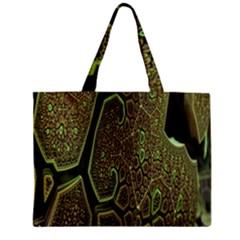 Fractal Complexity 3d Dimensional Zipper Mini Tote Bag