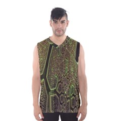 Fractal Complexity 3d Dimensional Men s Basketball Tank Top