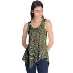 Fractal Complexity 3d Dimensional Sleeveless Tunic