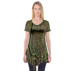 Fractal Complexity 3d Dimensional Short Sleeve Tunic