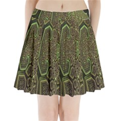 Fractal Complexity 3d Dimensional Pleated Mini Skirt