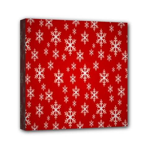 Christmas Snow Flake Pattern Mini Canvas 6  x 6