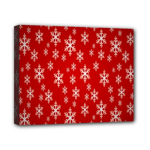 Christmas Snow Flake Pattern Canvas 10  X 8