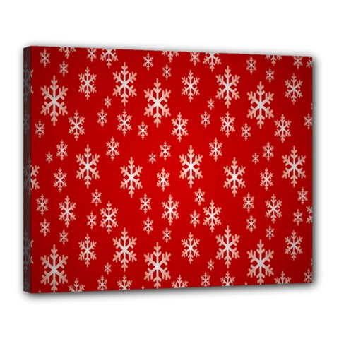 Christmas Snow Flake Pattern Canvas 20  x 16