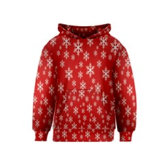 Christmas Snow Flake Pattern Kids  Pullover Hoodie