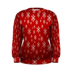 Christmas Snow Flake Pattern Women s Sweatshirt