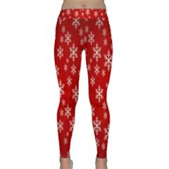 Christmas Snow Flake Pattern Classic Yoga Leggings