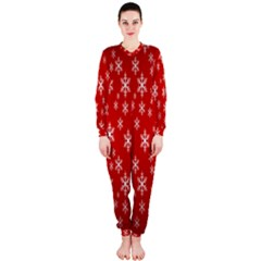 Christmas Snow Flake Pattern Onepiece Jumpsuit (ladies)
