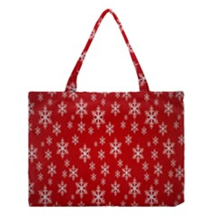Christmas Snow Flake Pattern Medium Tote Bag