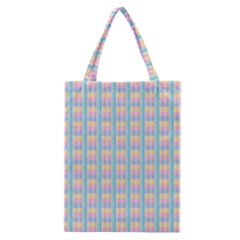 Grid Squares Texture Pattern Classic Tote Bag