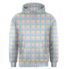 Grid Squares Texture Pattern Men s Pullover Hoodie