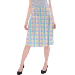 Grid Squares Texture Pattern Midi Beach Skirt