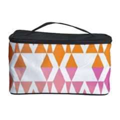 Geometric Abstract Orange Purple Pattern Cosmetic Storage Case
