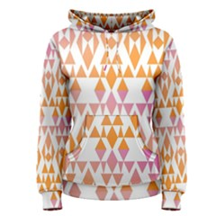 Geometric Abstract Orange Purple Pattern Women s Pullover Hoodie