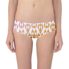Geometric Abstract Orange Purple Pattern Classic Bikini Bottoms
