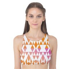 Geometric Abstract Orange Purple Pattern Tank Bikini Top