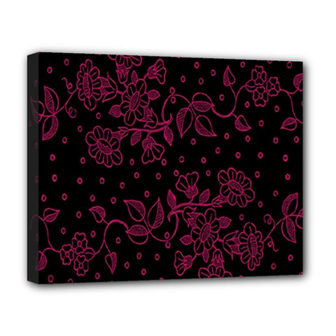 Pink Floral Pattern Background Wallpaper Deluxe Canvas 20  x 16