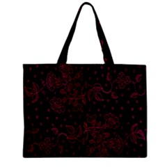 Pink Floral Pattern Background Wallpaper Mini Tote Bag