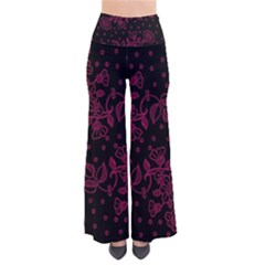 Pink Floral Pattern Background Wallpaper Pants
