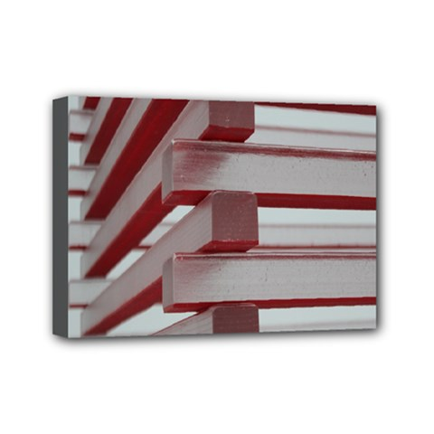 Red Sunglasses Art Abstract Mini Canvas 7  x 5