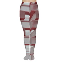 Red Sunglasses Art Abstract Women s Tights
