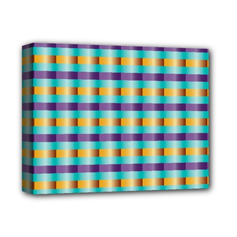 Pattern Grid Squares Texture Deluxe Canvas 14  x 11