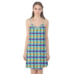 Pattern Grid Squares Texture Camis Nightgown