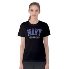 Navy Boyfriend   Women s Cotton Tee