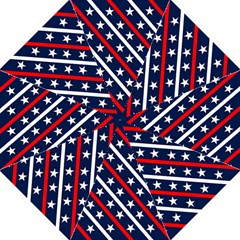 Patriotic Red White Blue Stars Straight Umbrellas