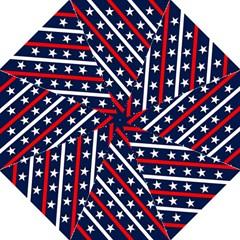 Patriotic Red White Blue Stars Golf Umbrellas