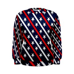 Patriotic Red White Blue Stars Women s Sweatshirt
