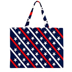 Patriotic Red White Blue Stars Large Tote Bag