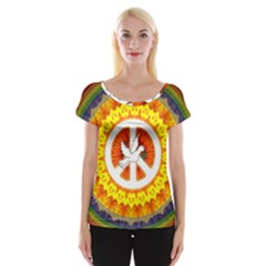 Peace Art Artwork Love Dove Women s Cap Sleeve Top