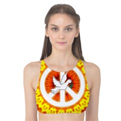 Peace Art Artwork Love Dove Tank Bikini Top