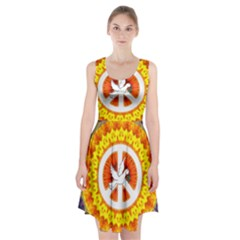 Peace Art Artwork Love Dove Racerback Midi Dress
