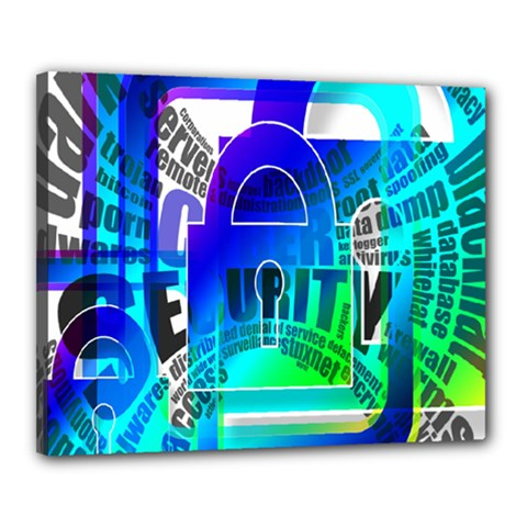 Security Castle Sure Padlock Canvas 20  x 16
