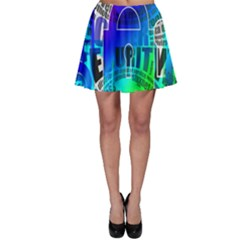 Security Castle Sure Padlock Skater Skirt
